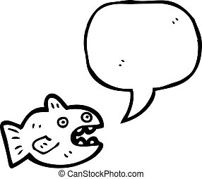 cartoon talking fish