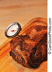 Roast Beef - Roast beef for dinner with thermometer