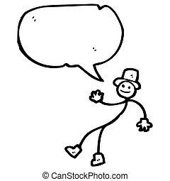 cartoon dancing stick man
