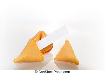 Fortune Cookie - fortune cookie shot in a studio with white...