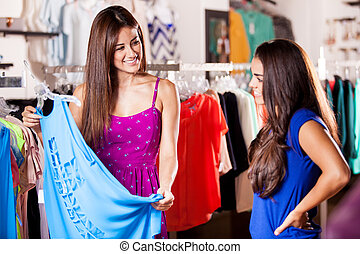 Best friends shopping together - Pretty female friends...