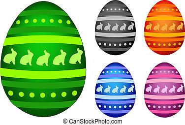 Easter Eggs - 5 easter Eggs isolated on white