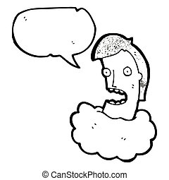head in the clouds cartoon