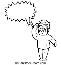 cartoon hard of hearing man