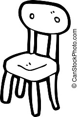 old school chair cartoon