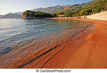 Adriatic sea beach view - beautiful landscape with Queens...