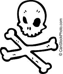 red skull and crossbones symbol