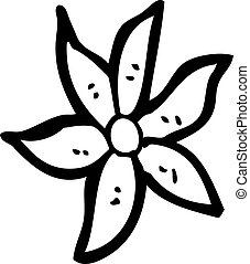cartoon flower decorative element