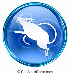 Rat Zodiac icon blue