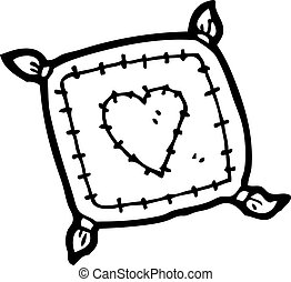 cartoon cushion with love heart