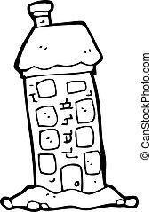 tall old house cartoon
