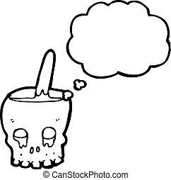 cartoon skull bowl