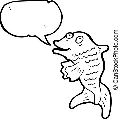 talking fish cartoon