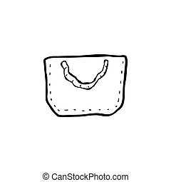 cartoon hessian bag