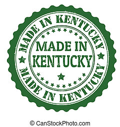 Made in Kentucky stamp - Made in Kentucky grunge rubber...