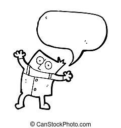cartoon man in big trousers