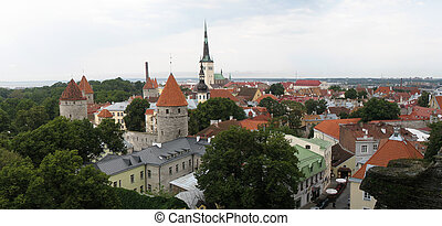 Tallin view - Tallin panoramic view by day, Estonia