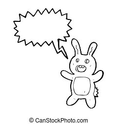 scary zombie rabbit cartoon