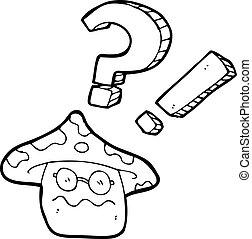 cartoon magic mushroom