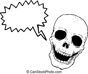cartoon laughing red skull
