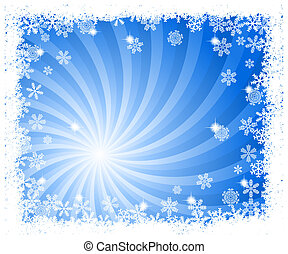 abstract blue swirl snowflake background
