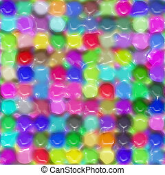 waxy color pattern - texture of bright imprinted round color...