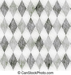 grunge check drawing pattern - seamless texture of many...