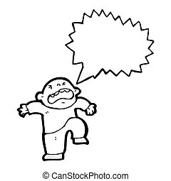 cartoon temper tantrum