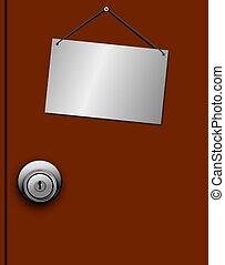 Door with Blank Door Sign