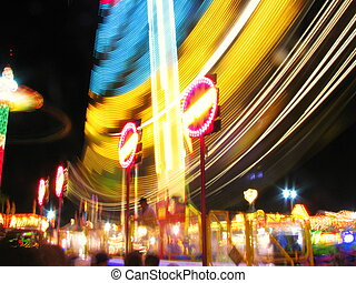 Whirlygig Ride at Night - The Whirlygig ride at night at the...