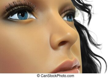 Mannequin Face Close Up