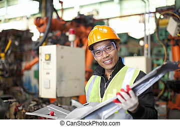 Industrial engineer - industrial engineer checking quality...