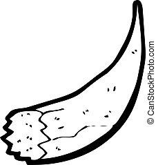 cartoon broken old tusk