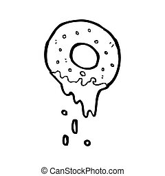 cartoon doughnut