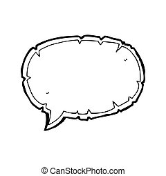 torn speech bubble cartoon