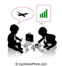 babies planning a business travel