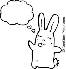 cartoon rabbit sticking out tongue
