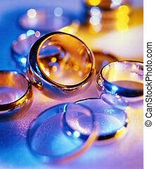 Wedding ring - Abstract composition with the wedding rings...