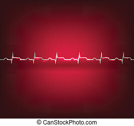 Heart attack, infarct cardiogram - Heart
