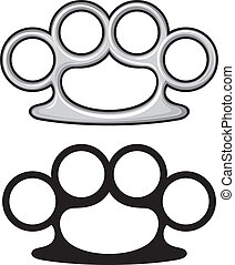 Brass knuckles weapon, knuckle