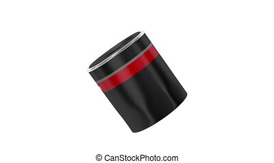 Oil filter - Automobile oil filter rotates on white...