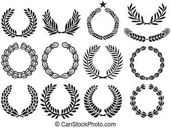 Wreath set (wreath collection, laurel wreath, oak wreath,...