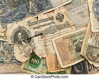 old money background - background from different old paper...