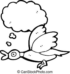flying duck cartoon