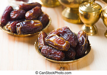 date palm ramadan food also known as kurma Consumed before...