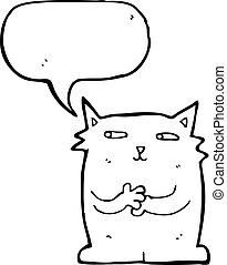 smug cat cartoon