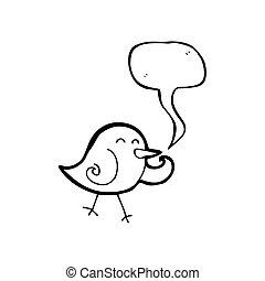 cartoon little bird laughing