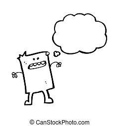 cartoon square little guy