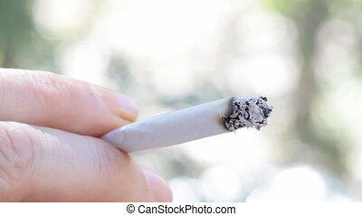 smoking cigarette close up