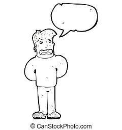 cartoon worried man voicing his concerns